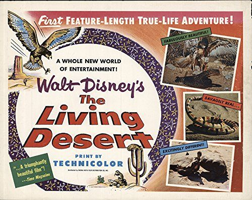 Original theatrical quad poster for Walt Disney's The Living Desert
