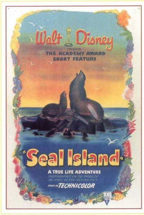 Original theatrical release poster for Walt Disney's Seal Island
