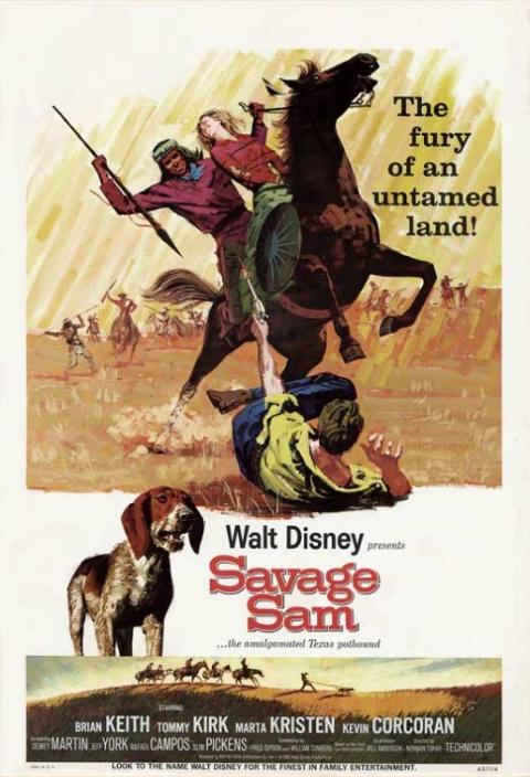 Original theatrical release poster for Walt Disney's Savage Sam