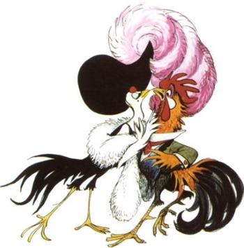 Concept art by Marc Davis for Walt Disney's Chanticleer