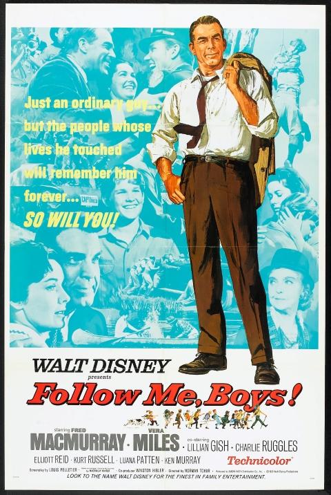 Original theatrical release poster for Walt Disney's Follow Me, Boys!