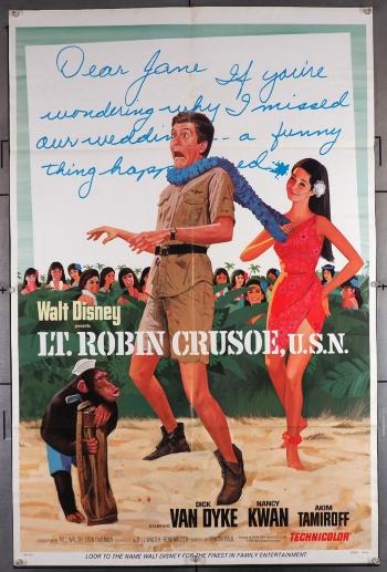 Theatrical release poster for Lt. Robin Crusoe, U.S.N.